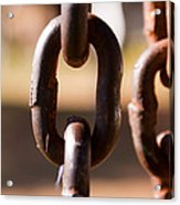 Close Up Of A Chain Link Acrylic Print