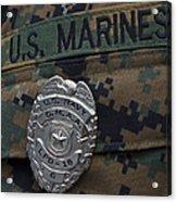 Close-up Of A Duty Master-at-arms Badge Acrylic Print