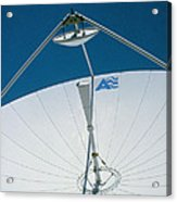 Close Up Of A Satellite Receiver Dish Acrylic Print by David Parker