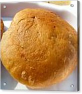 Close Up Of An Indian Food Delicacy Kachori Acrylic Print