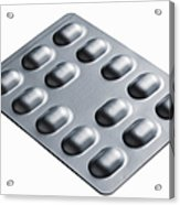 Close Up Of Blister Pack Of Pills Acrylic Print