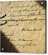 Close-up Of Emancipation Proclamation Acrylic Print