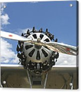 Close-up Of Engine On Antique Seaplane Canvas Poster Print Acrylic Print