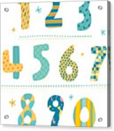 Close-up Of Numbers Acrylic Print