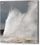 Close Up Of Old Faithful Acrylic Print