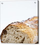 Close Up Of Sliced Loaf Of Bread Acrylic Print