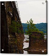 Close Up Of The Bridge Over The River Acrylic Print
