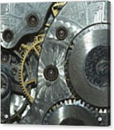 Close-up View Of Complex Clockwork Acrylic Print