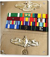Close-up View Of Military Decorations Acrylic Print