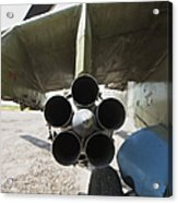 Close-up View Of The Rocket Pod On An Acrylic Print