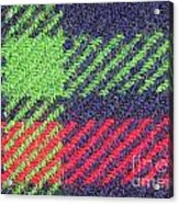Closeup Of Multi-colored Fabric Acrylic Print