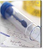 Clostridium Difficile Test Acrylic Print by Tek Image