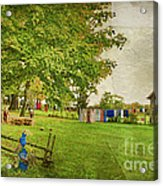 Clothes On The Line Acrylic Print