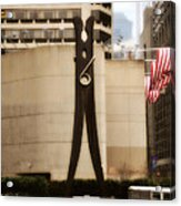 Clothes Pin Statue In Philadelphia Acrylic Print
