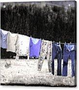 Clothesline  Acrylic Print