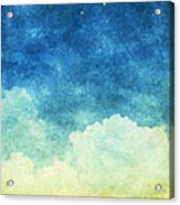 Cloud And Sky Acrylic Print by Setsiri Silapasuwanchai