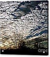 Cloud Blanket Sunset Acrylic Print