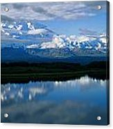 Cloud-enshrouded Mt. Mckinley Reflected Acrylic Print