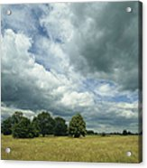 Cloud-filled Sky Over A Cluster Acrylic Print