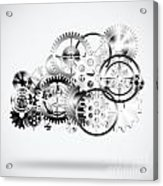 Cloud Made By Gears Wheels  Acrylic Print