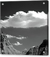 Cloud Over Mountain Range Acrylic Print by Hiro Oshima - www.zibili.com