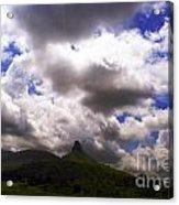 Clouded Hills At Nasik India Acrylic Print
