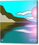 Clouded Sunrise Acrylic Print