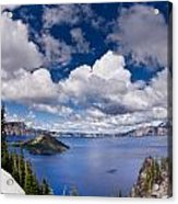Clouds Above Crater Lake Acrylic Print