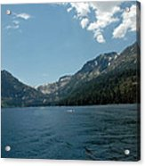 Clouds Above Emerald Bay Acrylic Print