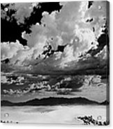 Clouds Above White Sands Acrylic Print