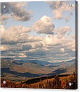 Clouds And Mountains Acrylic Print