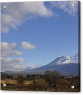Clouds And Mt Shasta In Autumn Acrylic Print