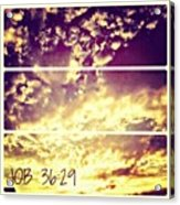 #clouds #bible #phonto #sky Acrylic Print