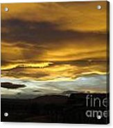 Clouds Illuminated At Sunset Acrylic Print