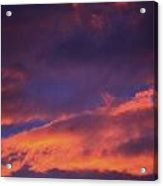 Clouds In Sky With Pink Glow Acrylic Print by Richard Wear