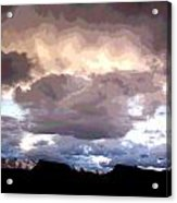 Clouds Natural Art Acrylic Print