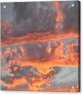 Clouds On Fire Acrylic Print by Kevin Bone