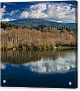 Clouds On The Klamath River Acrylic Print