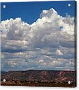 Clouds Over A Mesa Acrylic Print