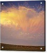 Clouds Over Canola Harvest, Saint Acrylic Print
