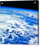 Clouds Over Earth Viewed From A Satellite Acrylic Print by Stockbyte