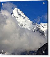Clouds Over Snow White Peak Acrylic Print