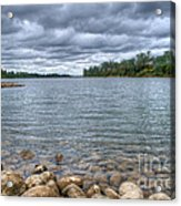 Clouds Over The American River Acrylic Print