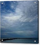 Clouds Over The Jetty Acrylic Print