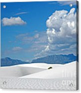 Clouds Over The White Sands Acrylic Print