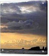 Clouds Over Tillamook Lighthouse Acrylic Print