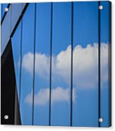 Clouds Reflected In A Glass Facade Acrylic Print