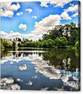 Clouds Reflection On Water Acrylic Print
