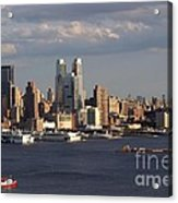 Clouds Rolling In On New York City Acrylic Print