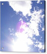 Clouds With Orb Acrylic Print